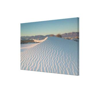 米国、ニューメキシコの国民白い砂 キャンバスプリント