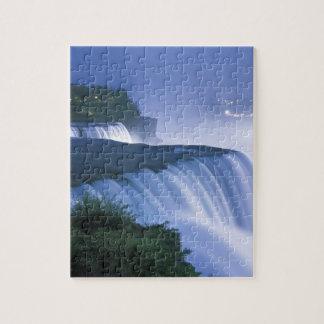 米国、ニューヨーク、ナイアガラ・フォールズ。 アメリカの滝 ジグソーパズル