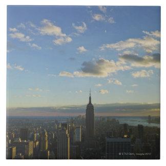 米国、ニューヨーク、ニューヨークシティの都市景観の 正方形タイル大