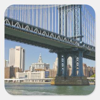 米国、ニューヨーク、ニューヨークシティ。 マンハッタン橋 スクエアシール