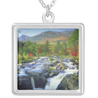 米国、ニューヨーク。 Adirondackの滝 シルバープレートネックレス