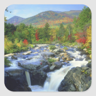 米国、ニューヨーク。 Adirondackの滝 スクエアシール