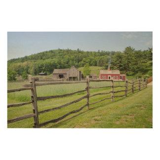 米国、ニューヨーク、Cooperstownの農家の博物館 ウッドウォールアート
