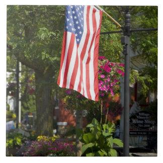 米国、ニューヨーク、Lewiston。 付す米国旗 タイル