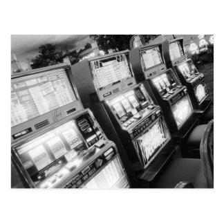 米国、ネバダ、ラスベガス: カジノのスロットマシン/ ポストカード