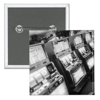 米国、ネバダ、ラスベガス: カジノのスロットマシン/ 5.1CM 正方形バッジ