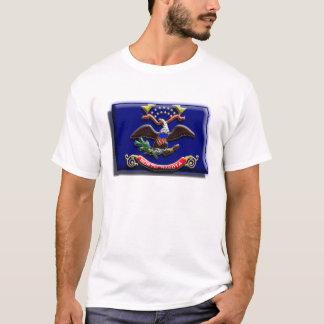 米国: ノースダコタ(3d) tシャツ