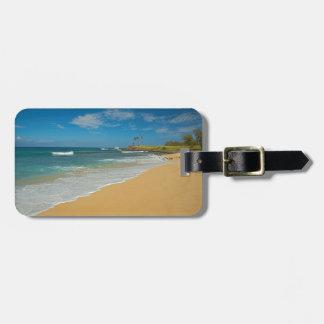 米国、ハワイのモロカイ島の島、3マイルのビーチ ラゲッジタグ