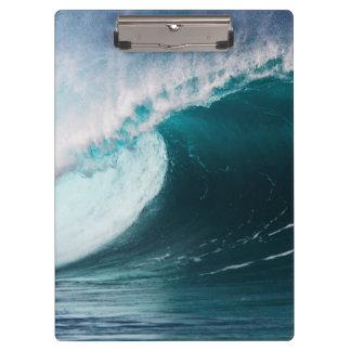 米国、ハワイ、オアフの大きい波 クリップボード