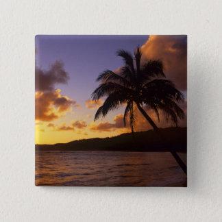 米国、ハワイ、カウアイ島の2のカラフルな日の出 5.1CM 正方形バッジ