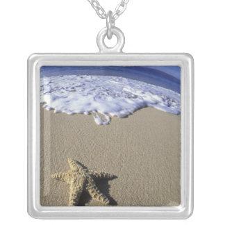 米国、ハワイ、マウイのMakenaのビーチ、ヒトデ シルバープレートネックレス