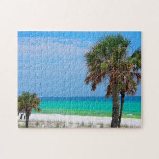 米国、フロリダ。 エメラルドの海岸のヤシの木 ジグソーパズル