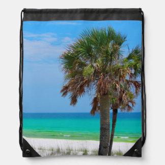 米国、フロリダ。 エメラルドの海岸のヤシの木 ナップサック