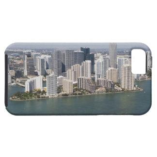 米国、フロリダ、マイアミの海岸線2との都市景観 iPhone SE/5/5s ケース
