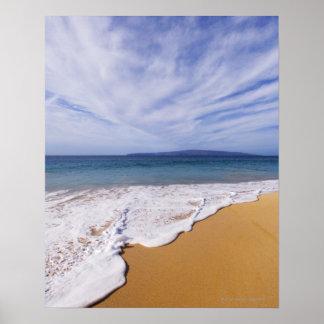 米国、マウイ、Wailea、波および海岸線 ポスター