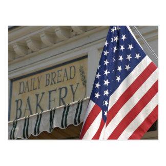 米国; マサチューセッツ; ストックブリッジ; 毎日のパン ポストカード