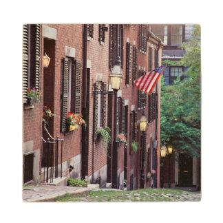 米国、マサチューセッツ、ボストンのドングリに沿う家 ウッドコースター