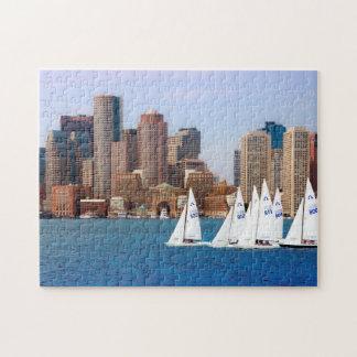 米国、マサチューセッツ。 ボストン水辺地帯のスカイライン4 ジグソーパズル