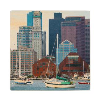 米国、マサチューセッツ。 ボストン水辺地帯のスカイライン ウッドコースター