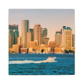 米国、マサチューセッツ。 ボストン水辺地帯のパノラマ ウッドコースター