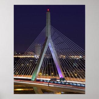 米国、マサチューセッツ、ボストン。 レオナルドZakim ポスター