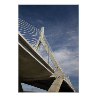 米国、マサチューセッツ、ボストン。 Zakim橋 ポスター