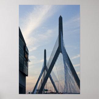米国、マサチューセッツ、ボストン。 Zakim橋。 2 ポスター