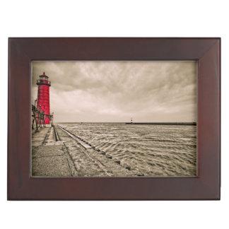 米国、ミシガン州の壮大な避難所の灯台 ジュエリーボックス