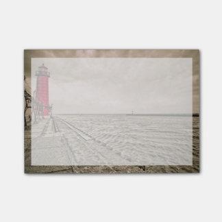 米国、ミシガン州の壮大な避難所の灯台 ポストイット