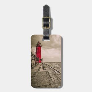 米国、ミシガン州の壮大な避難所の灯台 ラゲッジタグ