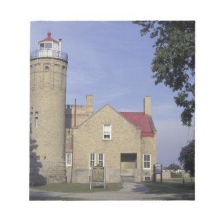 米国、ミシガン州古いMackinacポイント灯台 ノートパッド