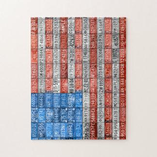 米国-ミシガン州--ののナンバープレートプレートのパズル ジグソーパズル