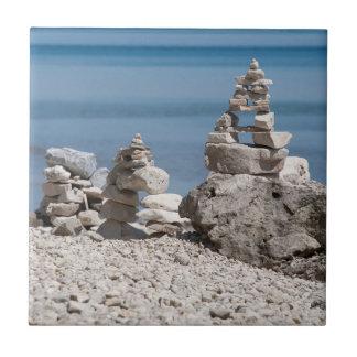 米国、ミシガン州。 ビーチの石造りタワー タイル