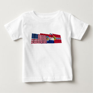 米国、ミズーリおよびセントルイスの旗 ベビーTシャツ