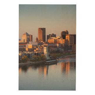 米国、ミネソタ、ミネアポリス、セントポール3 ウッドウォールアート
