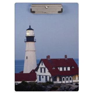 米国、メイン、ポートランドの岬エリザベスの灯台 クリップボード
