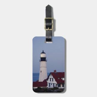 米国、メイン、ポートランドの岬エリザベスの灯台 ラゲッジタグ