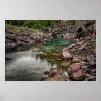 米国、モンタナのグレーシャー国立公園2 ポスター