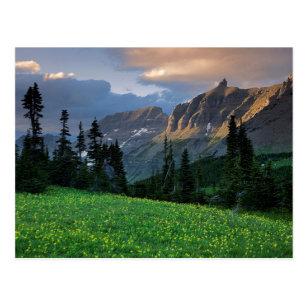 米国、モンタナのグレーシャー国立公園、ローガンのパス ポストカード