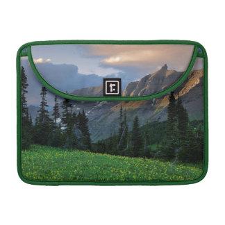米国、モンタナのグレーシャー国立公園、ローガンのパス MacBook PROスリーブ