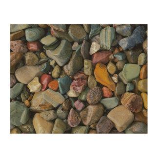 米国、モンタナのグレーシャー国立公園、石 ウッドウォールアート