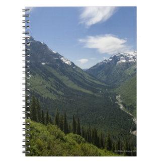 米国、モンタナの景色グレーシャー国立公園 ノートブック