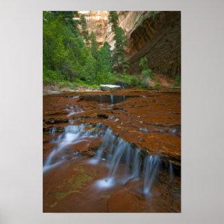 米国、ユタのザイオン国立公園。 から景色 ポスター