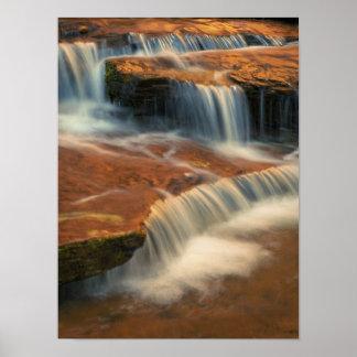 米国、ユタのザイオン国立公園。 2から景色 ポスター