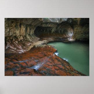 米国、ユタのザイオン国立公園。 3から景色 ポスター