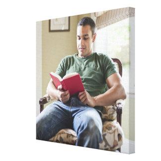 米国、ユタの若者の読本 キャンバスプリント