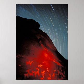 米国、ユタは、国立公園、岩石彫刻をアーチ形にします ポスター