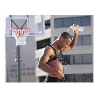 米国、ユタ、ソルト・レーク・シティのバスケットボール選手 ポストカード