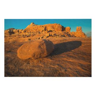 米国、ユタ、モアブの砂岩 ウッドウォールアート