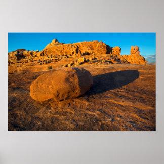 米国、ユタ、モアブの砂岩 ポスター